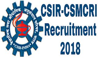 CSIR-CSMCRI RECRUITMENT