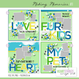 Creative Team, Annemarie, for Heartstrings Scrap Art -  Making Memories #11 Templates and Looking Back Freebie by Ponytails Designs
