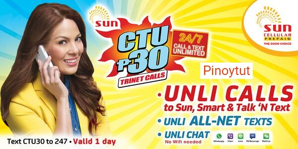 CTU30 Unlimited Tri-net Calls, All-Net and Free FB Sun Cellular