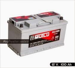 mutlu akü silver serisi 12 volt 100 amper
