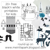 free black-and-white printables for children