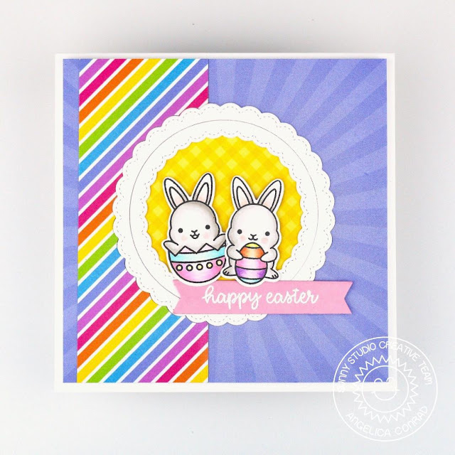 Sunny Studio Stamps: Chubby Bunny Card by Angelica Conrad