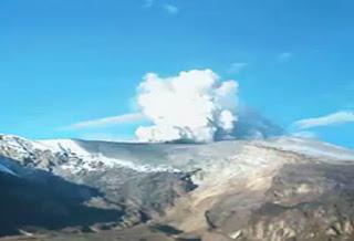 Nevado del Ruiz erupción