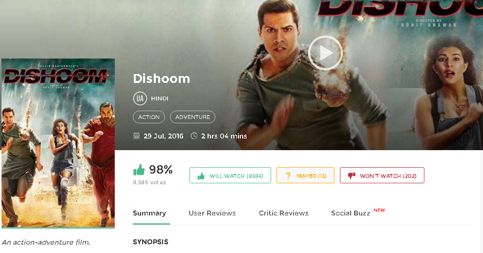 Dishoom (2016) BollywoodMovie Download free in HD 720p avi mp4 3gp hq