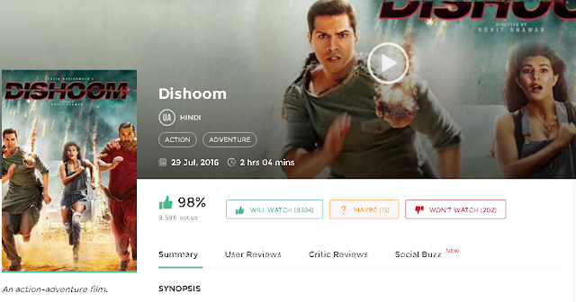 Dishoom (2016) Bollywood Movie Download free in HD 720p avi mp4 3gp hq