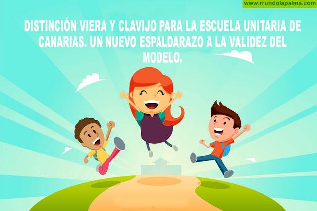 Distinción Viera y Clavijo para la escuela unitaria de Canarias. un nuevo espaldarazo a la validez del modelo