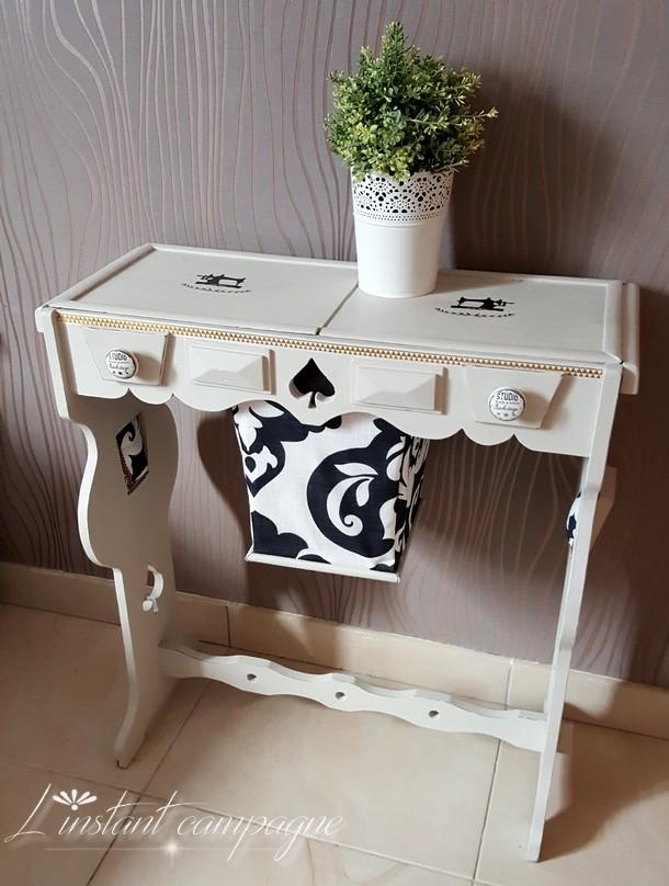 L 39 instant campagne relooking un meuble couture for Teindre un meuble deja teint