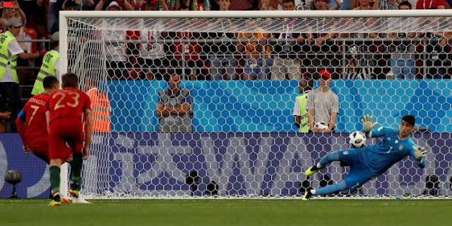 Quaresma e Cristiano Ronaldo vibram com gol de Portugal contra Irã