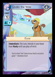 MLP Under the Wire High Magic CCG Card