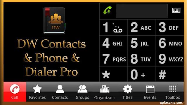 تطبيق DW Contacts & Phone & Dialer v3.0.5.4 لادارة المكالمات والرسائل النسخة المدفوعة