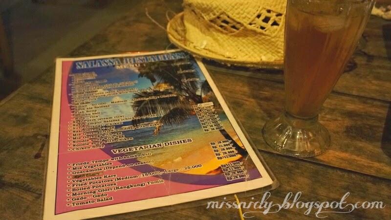menu makanan di salassa guesthouse