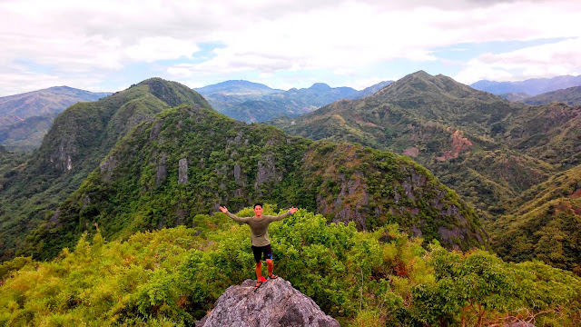 Summit of Mt. Binacayan, Background is Mt. Pamitinan