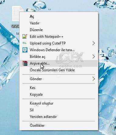 Winrar İle Özel Dosyaları Şifreleme -www.ceofix.com