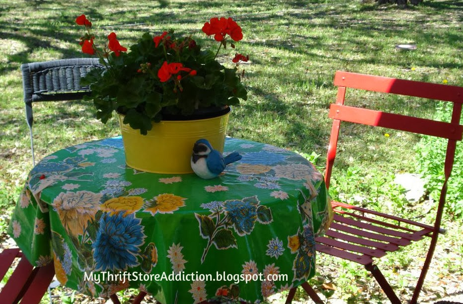 Oil cloth tablecloth