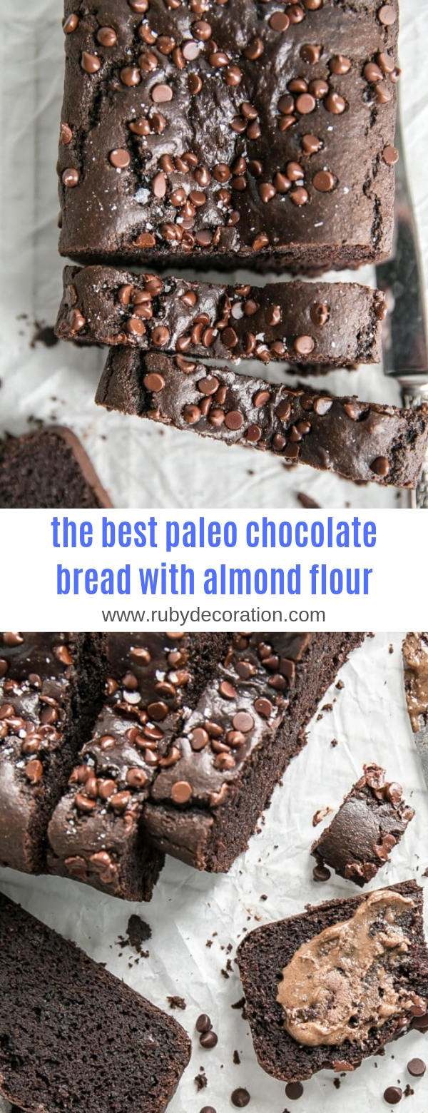 the best paleo chocolate bread with almond flour