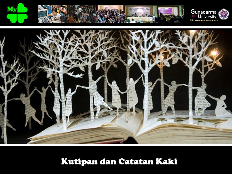 Kutipan dan Catatan Kaki | My Leaf-Clover