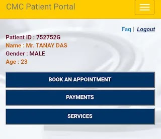 multiple category appointment in cmc vellore