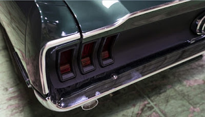 1968 Green Mustang Bullit Fastback Taillights