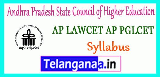 AP LAWCET AP PGLCET Andhra Pradesh State Council of Higher Education Syllabus