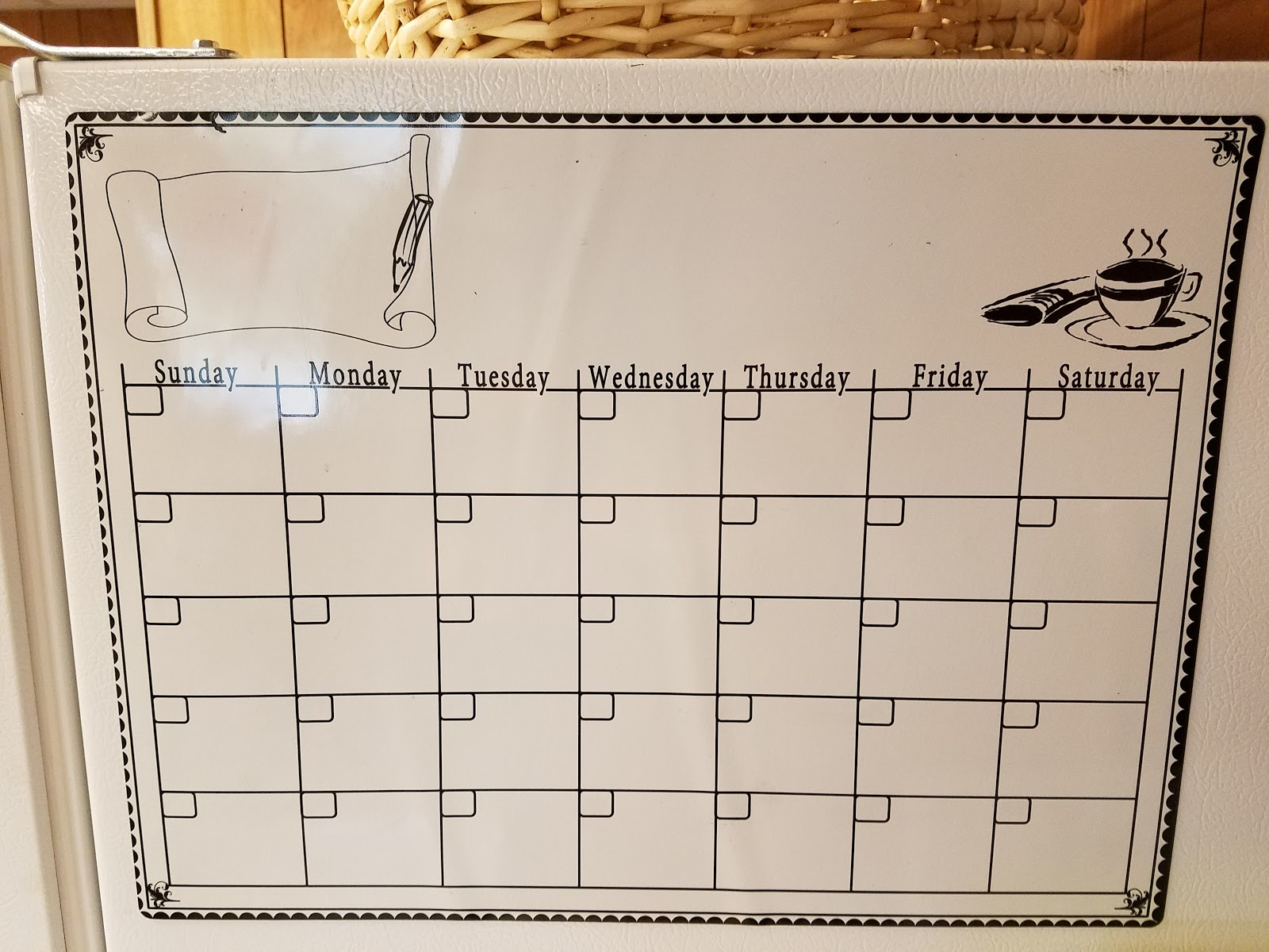 Magnetic Monthly Calendar For Refrigerator : Dry erase calendar fridge monthly calendar magnet mocha