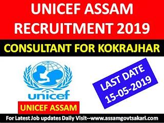 UNICEF Job Assam 2019-Consultant for Kokrajhar