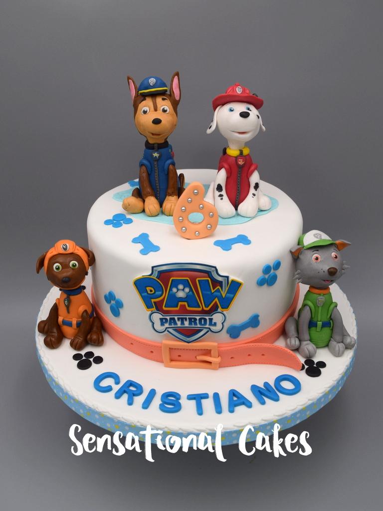 Paw Patrol Pet Dogs Theme Boy Birthday 3D Cake Singapore PawPatrol3DCake PetDogCake