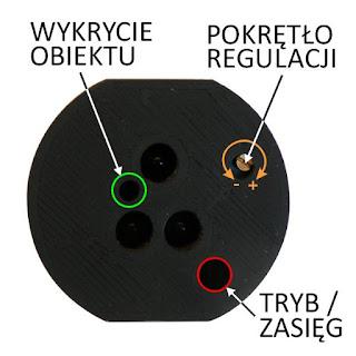 Schodowy czujnik optyczny odbiciowy odległości i ruchu ALFA smartLEDs - panel przedni