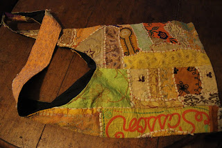 Vintage indian patchwork hobo bag