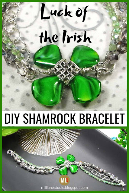 Four leaf clover bracelet inspiration sheet