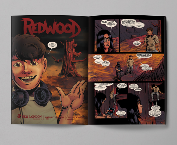 Pages of comic Redwood