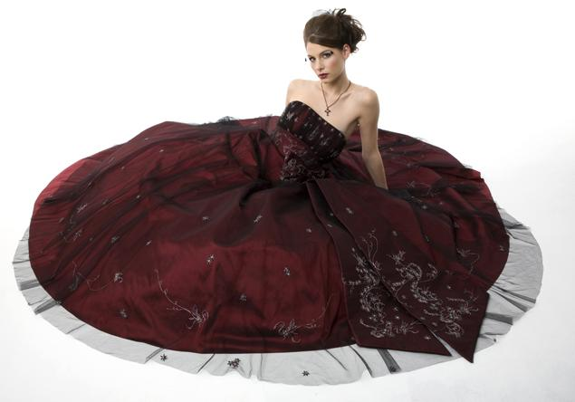 Black Wedding Gowns: Black And Red Wedding Dresses Design