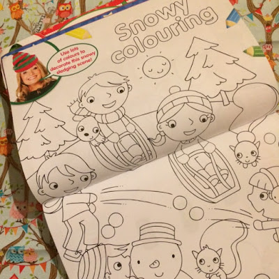 Snow colouring pages