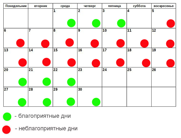 Диета на лунный календарь на