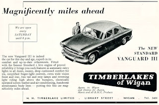 H H Timberlake - Standard Vanguard advert from 1956