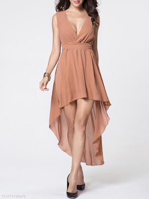 https://www.fashionmia.com/Products/deep-v-neck-plain-removable-tie-dip-hem-evening-dress-163242.html