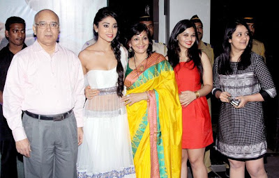 Shriya Saran with her family