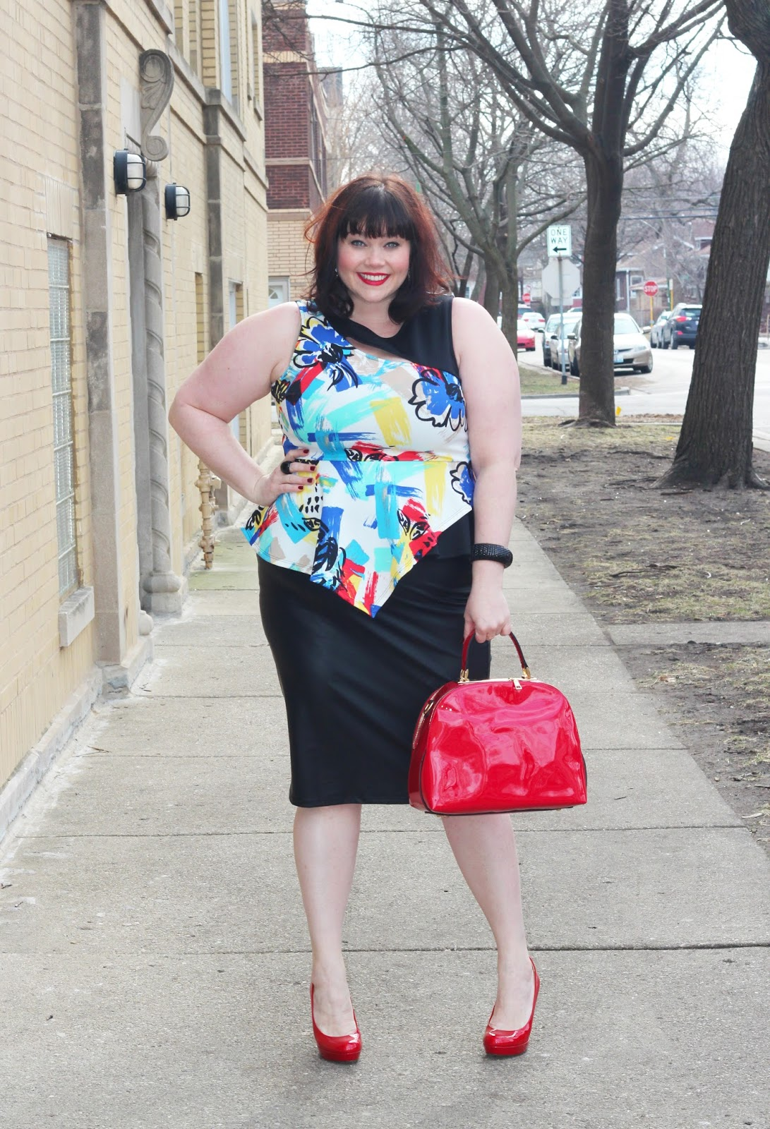 f530df4723d8 Modern Office Classic  Plus Size Peplum and Pencil Skirt