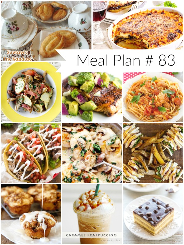 All new delicious meal plan to help you plan out your week - Ioanna's Notebook