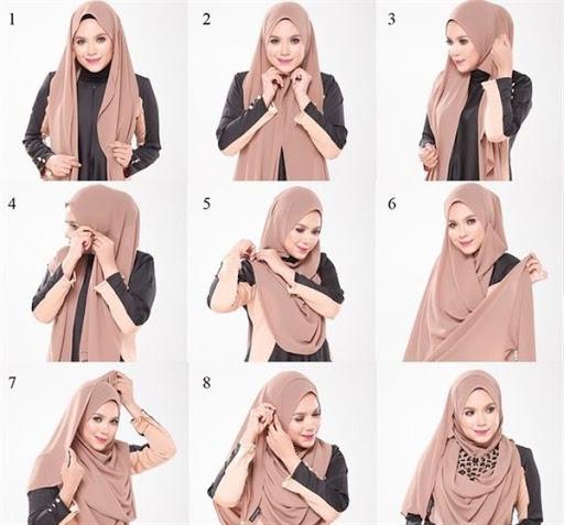 tutorial hijab segi empat syari terbaru