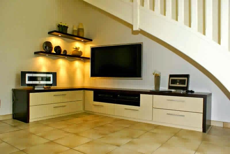 meuble tv angle avec rangement meuble tv. Black Bedroom Furniture Sets. Home Design Ideas