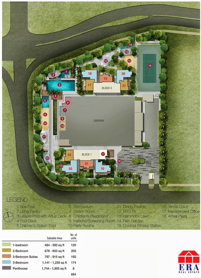 Sky Vue Bishan - Ground Floor Siteplan