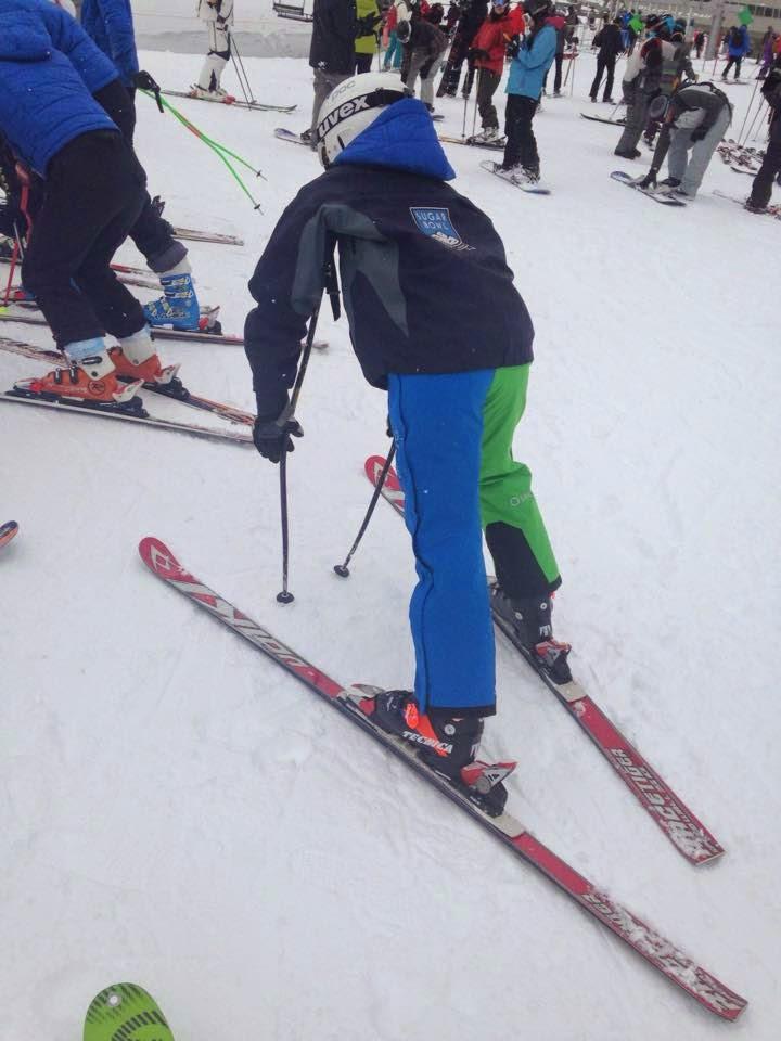 Arctica side zip pants on ski slope image