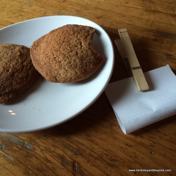 cookies and check at TOAST Kitchen + Bar in Oakland, California
