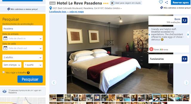Estadia no Hotel Le Revê Pasadena