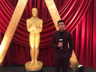Nabil Ahmad, Nabil Raja Lawak inteview Artis Hollywood Di Anugerah Akademi Ke 89 (Oscars 2017)