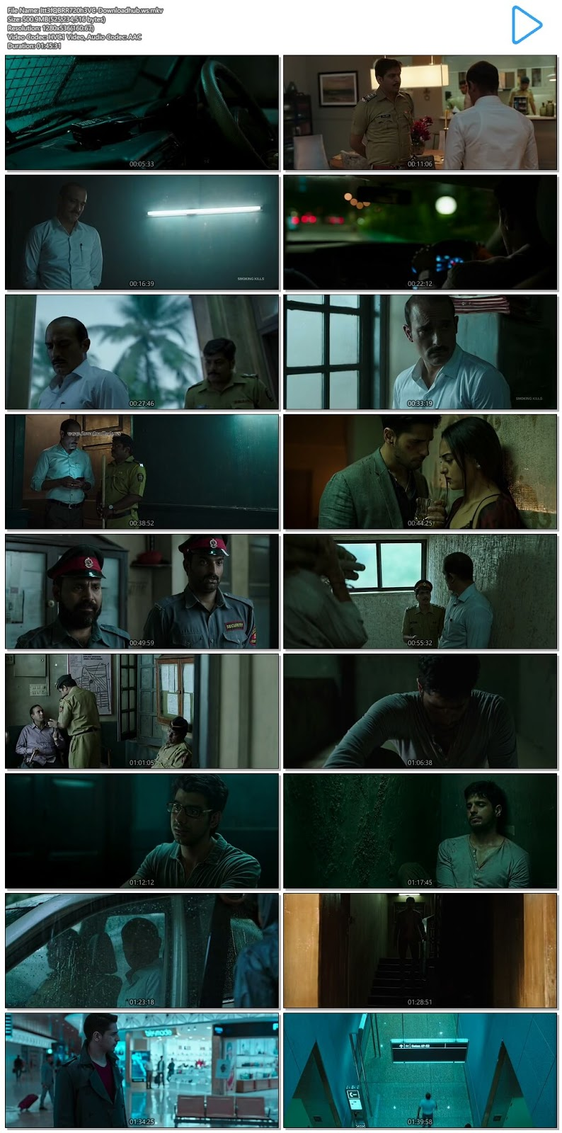 Ittefaq 2017 Hindi 720p HEVC BluRay ESubs
