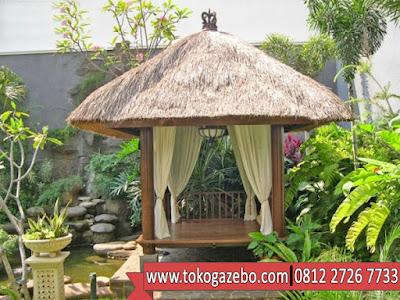 Gazebo Bali Kayu Glugu atap Alang-alang