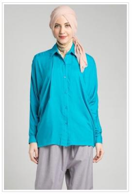 Gambar Model Kemeja Wanita Muslim Modern Terbaru