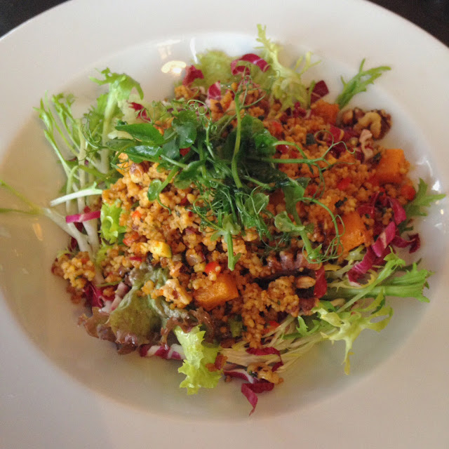 Butternut Squash and cous-cous winter salad at Rhubarb restaurant, Skipton. What Lizzy Loves