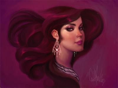 Ilustración de mujer bonita